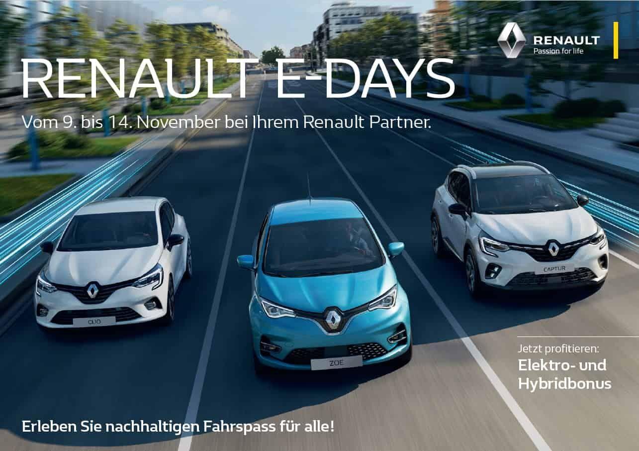 Renault E-Days im November